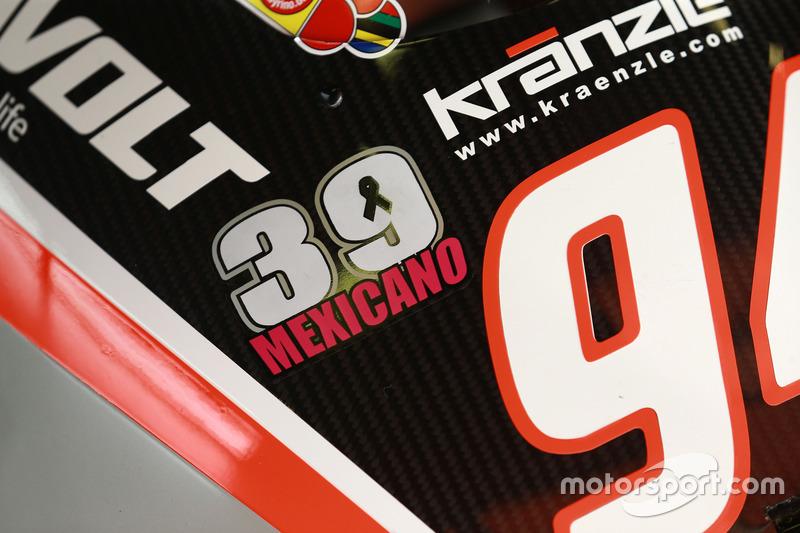Autocollant en hommage à Luis Salom, SAG Racing Team