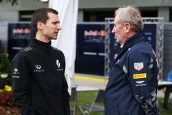 Remi Taffin, Renault Sport F1 Director Técnico de Motor con Dr Helmut Marko, Red Bull Motorsport Con
