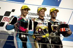Podium : le vainqueur Thomas Lüthi, Garage Plus Interwetten, Kalex; le deuxième, Luis Salom, SAG Team, Kalex; le troisième, Simone Corsi, Speed Up Racing, Speed Up