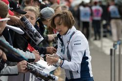 Claire Williams, Williams Deputy Team Principal signs autographs for the fans