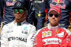 Lewis Hamilton, Mercedes AMG F1 Team ve Sebastian Vettel, Ferrari