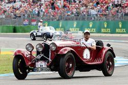 Fernando Alonso, McLaren lors de la parade des pilotes
