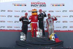 Podium : le vainqueur Simon Pagenaud, Team Penske Chevrolet, le deuxième, Will Power, Team Penske Chevrolet, le troisième, Carlos Munoz, Andretti Autosport Honda
