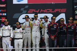 Podium: Winner #99 Rowe Racing, BMW M6 GT3: Maxime Martin, Philipp Eng, Alexander Sims; second place