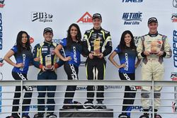 Podium: race winner Parker Thompson, second place Victor Franzoni, third place Anthony Martin