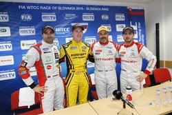 Pressekonferenz; #25 Mehdi Bennani, Sébastien Loeb Racing, Citroën C-Elysée WTCC; Nicky Catsburg, LA