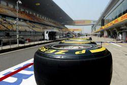 Pirelli tyres in the pitlane