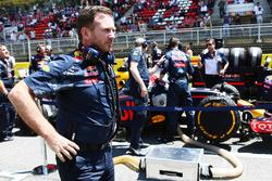 Christian Horner, Team Principal Red Bull Racing sur la grille