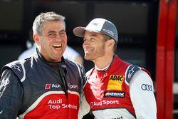 Timo Scheider, Audi Sport Team Phoenix, Audi RS 5 DTM with a mechanic