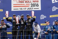 Podium LMP3: Winner #19 Duqueine Engineering Ligier JSP3: David Hallyday, David Droux, Dino Lunardi