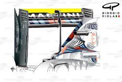 Williams FW37 rear wing, Italian GP