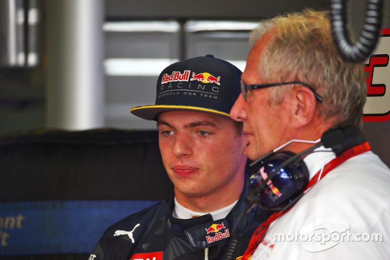 Max Verstappen, Red Bull Racing ve Dr Helmut Marko, Red Bull Motorları Danışmanı