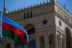 The Azerbaijan flag