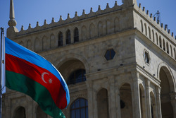 The Azerbaijan flag