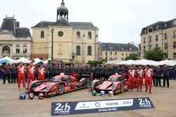 #12 Rebellion Racing Rebellion R-One AER: Nicolas Prost, Nick Heidfeld, Nelson Piquet Jr.; #13 Rebel
