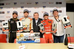 Press Conference: Race winner and Champion Tom Dillmann, AVF; second place Roy Nissany, Lotus; third