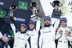 Podium GTE-Am: 2. #78 KCMG, Porsche 911 RSR: Christian Ried, Wolf Henzler, Joël Camathias