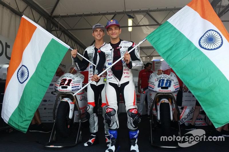 Jorge Martin, Aspar Team Mahindra Moto3, Francesco Bagnaia, Aspar Team Mahindra Moto3 celebrate Mahi