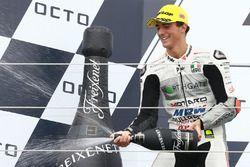 Podium: tweede plaats Francesco Bagnaia, Aspar Team Mahindra