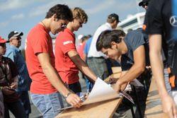 Lance Stroll, Prema Powerteam Dallara F312 - Mercedes-Benz, and Ralf Aron, Prema Powerteam Dallara F