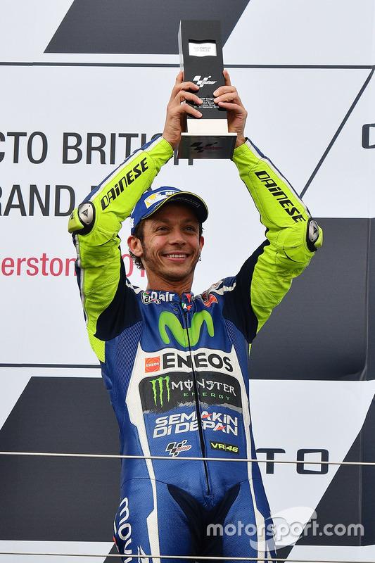 Podium: third place Valentino Rossi, Yamaha Factory Racing