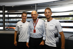 Ron Dennis, Executive Chairman, McLaren Automotive, with Stoffel Vandoorne, Test and Reserve Driver