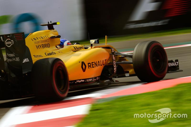 22: Джоліон Палмер, Renault Sport F1 Team RS16 (не брав участь у кваліфікації)