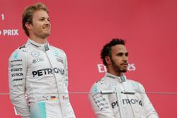 Nico Rosberg, Mercedes AMG F1 Team et Lewis Hamilton, Mercedes AMG F1 Team