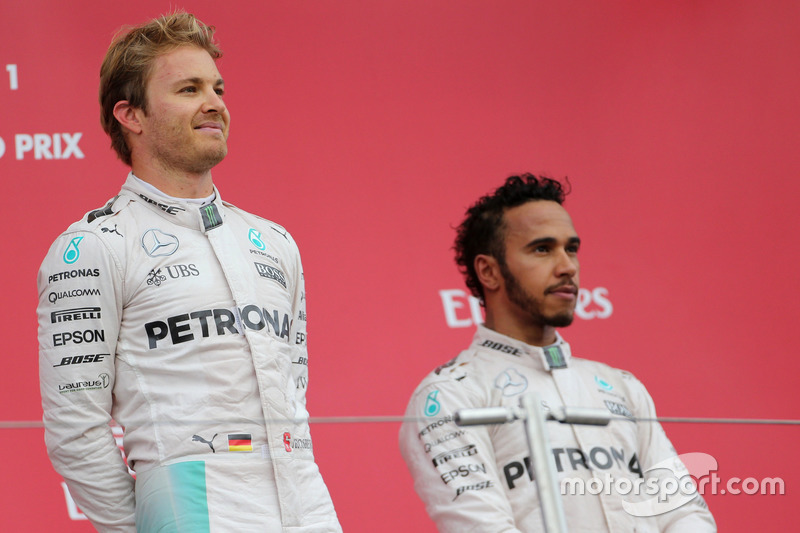 Nico Rosberg, Mercedes AMG F1 Team and Lewis Hamilton, Mercedes AMG F1 Team