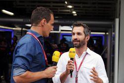 Timo Glock, (Right) RTL Presenter