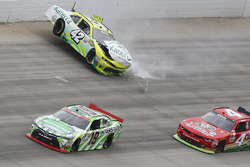 Justin Marks, Chip Ganassi Racing Chevrolet in trouble