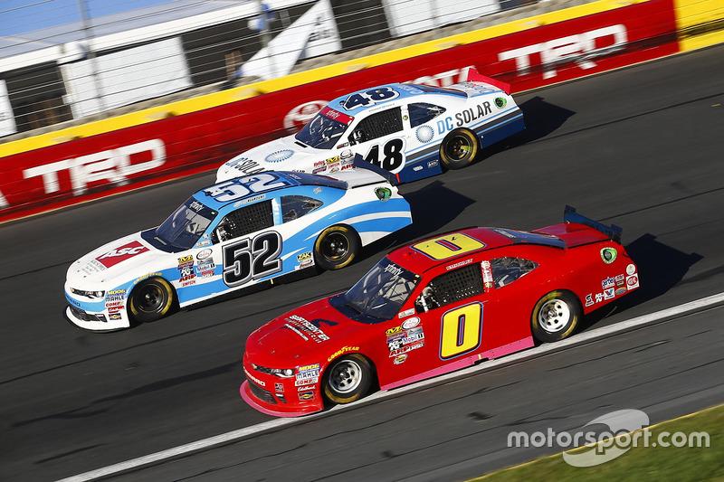 Joey Gase, Chevrolet, Garrett Smithley, Chevrolet, Brennan Poole, Chip Ganassi Racing Chevrolet