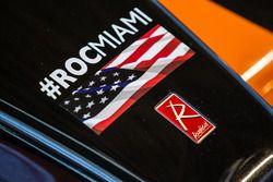 Detalle del coche Radical que participará en la carrera de campeones de 2017 en Miami en el Marlins