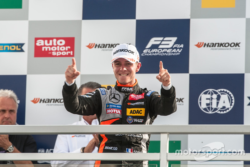 Podium, Anthoine Hubert, Van Amersfoort Racing Dallara F312 - Mercedes-Benz