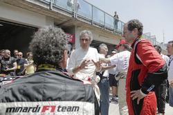 Aldo Costa, Direttore Tecnico Mercedes AMG F1, Gabriele Tredozi e Paolo Barilla