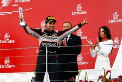 Sergio Pérez, Sahara Force India F1 fête sa troisième place sur le podium