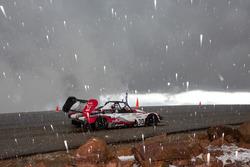 Hail falls on Pikes Peak