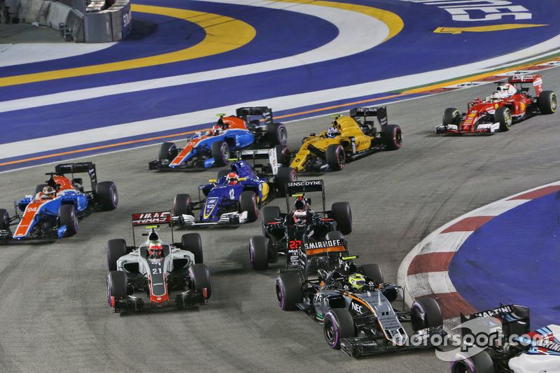 Sergio Perez, Sahara Force India F1 VJM09 alla partenza della gara