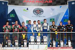 LMP2 podium: first place Gustavo Menezes, Nicolas Lapierre, Stéphane Richelmi, Signatech, second pla