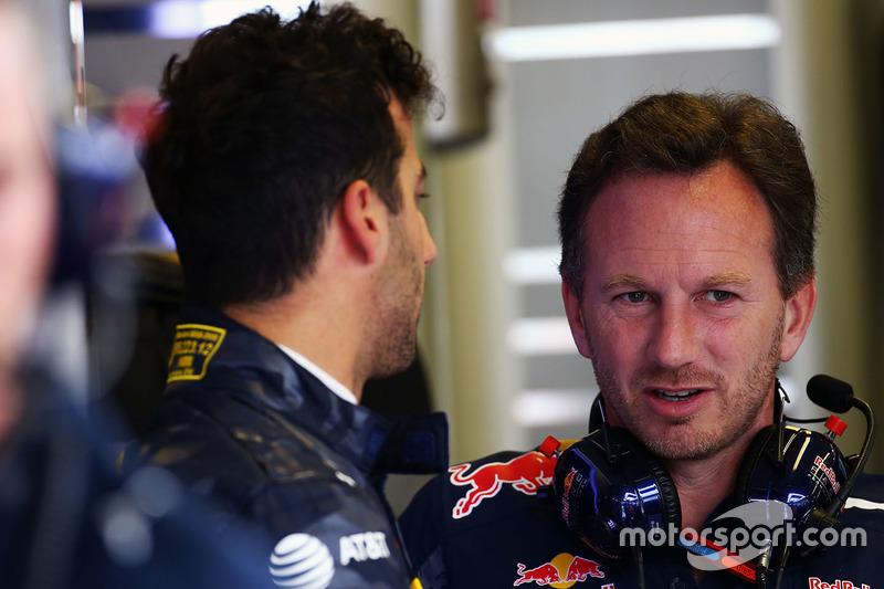 Daniel Ricciardo, Red Bull Racing con Christian Horner, Red Bull Racing Team Principal