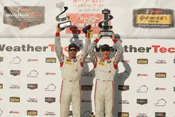 Podium: winners #8 Starworks Motorsports ORECA FLM09: Renger van der Zande, Alex Popow