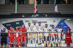 Podium LMGTE Am: first place Paul Dalla Lana, Pedro Lamy, Mathias Lauda, Aston Martin Racing, second