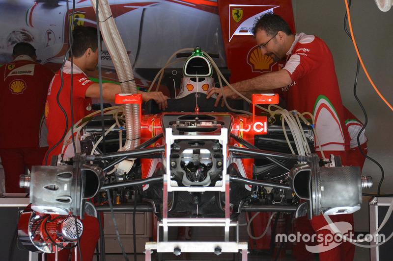 Les réglages de la Ferrari SF16-H