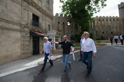 Charlie Whiting and Herman Tilke in Baku to check track preparations