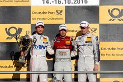 Podium race: Race winner Edoardo Mortara, Audi Sport Team Abt Sportsline, Audi RS 5 DTM; second plac