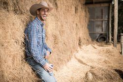 Daniel Ricciardo, Red Bull Racing en una granja en Austin