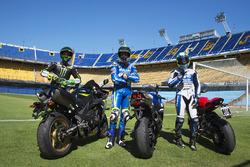 Pol Espargaro, Monster Yamaha Tech 3; Aleix Espargaro, Team Suzuki MotoGP; Yonny Hernandez, Aspar Ra