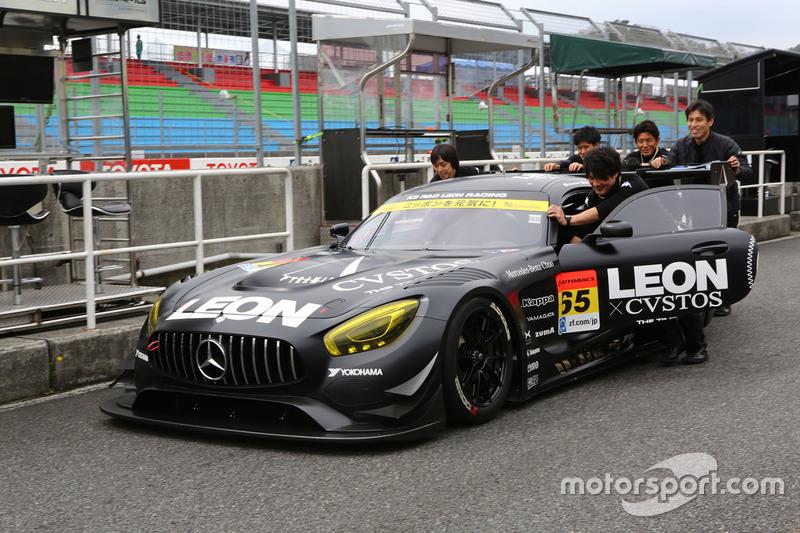 #65 K2 R&D Leon Racing Mercedes SLS AMG GT3: Haruki Kurosawa, Naoya Gamou