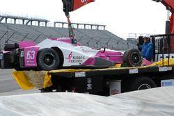 L'auto incidentata di Pippa Mann, Dale Coyne Racing Honda