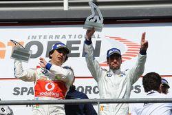 Podium: race winner #1 BMW Team Teo Martin, BMW M6 GT3: Miguel Ramos, Roldan Rodriguez